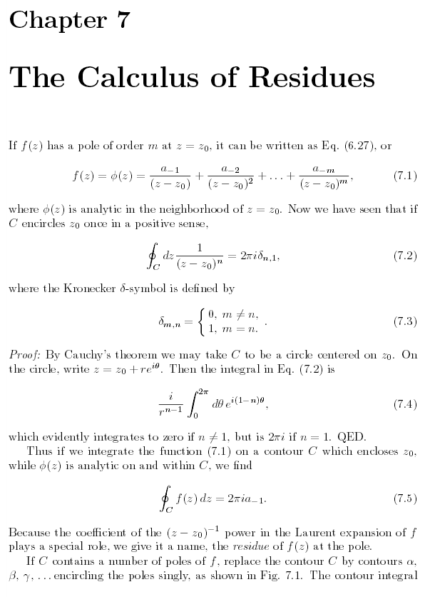calculus of residues 1